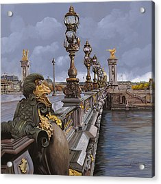 Paris-pont Alexandre IIi Acrylic Print by Guido Borelli
