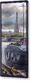 Paris Pont Alexandre IIi Acrylic Print by Yuriy  Shevchuk