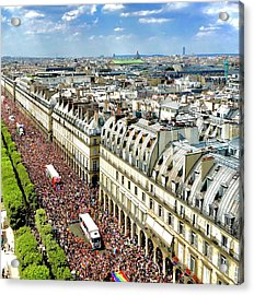 Paris Pride March 2018 Acrylic Print