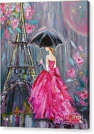 Paris Rain Acrylic Print