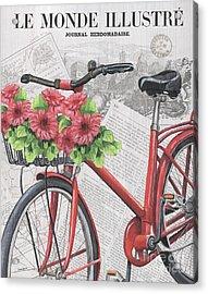 Paris Ride 2 Acrylic Print by Debbie DeWitt