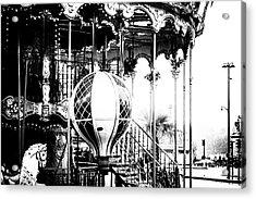 Paris Rides In Mono Acrylic Print