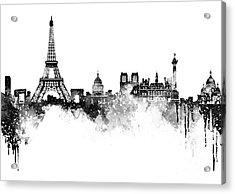 Paris Skyline Italy Acrylic Print by Prar Kulasekara