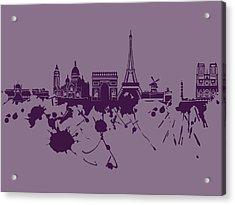 Paris Skyline.1 Acrylic Print