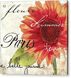 Paris Songs II Acrylic Print by Mindy Sommers