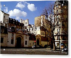 Acrylic Print featuring the digital art Paris Street Larry Darnell by Larry Darnell