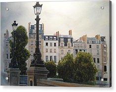 Paris Stroll Acrylic Print by Victoria Heryet