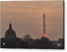 Paris Sunset II Acrylic Print