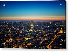 Paris Sunset Acrylic Print by Ryan Wyckoff
