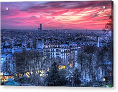 Acrylic Print featuring the photograph Paris Sunset by Shawn Everhart