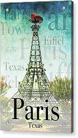 Paris Texas Style Acrylic Print
