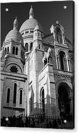 Paris Visit To Sacre Coeur Cathedral Acrylic Print
