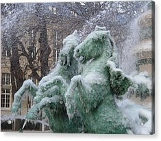 Paris Winter Acrylic Print