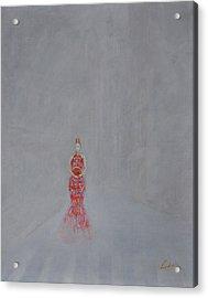Paris - Woman Holding A Fan In Haze Acrylic Print by CH Narrationism
