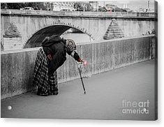 Parisian Beggar Lady Acrylic Print