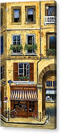 Parisian Bistro And Butcher Shop Acrylic Print by Marilyn Dunlap