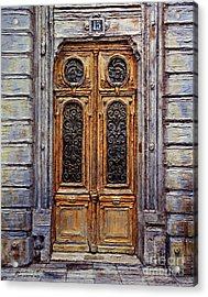 Acrylic Print featuring the painting Parisian Door No. 15 by Joey Agbayani