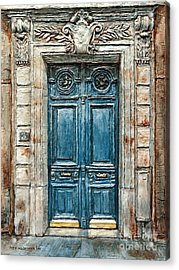 Parisian Door No. 3 Acrylic Print
