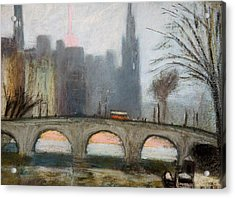 Acrylic Print featuring the painting Parisian Gray by Gary Coleman