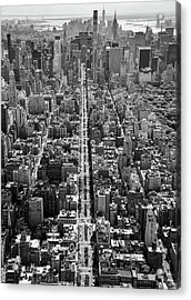 Acrylic Print featuring the photograph Park Avenue Aerial by Rand