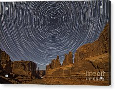 Park Avenue Star Trails Acrylic Print