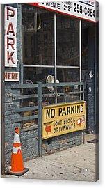 Park Here Acrylic Print by Art Ferrier
