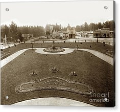 Park In Front Of El Carmelo Hotel Between Grand And Fountain And Lighthouse Avenue. 1887 Acrylic Print