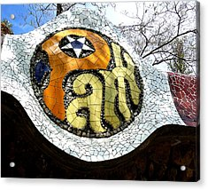 Park Letters In Collage Acrylic Print