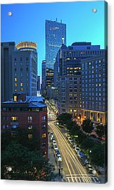 Acrylic Print featuring the photograph Park Plaza Hotel Boston by Juergen Roth
