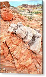 Acrylic Print featuring the photograph Park Road Sandstone In Valley Of Fire by Ray Mathis