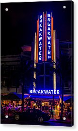 Acrylic Print featuring the photograph Parked At The Breakwater by Melinda Ledsome
