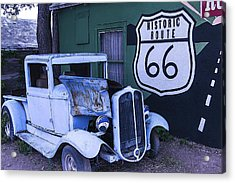 Parked Blue Truck Acrylic Print by Garry Gay