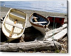 Parked Boats Acrylic Print by Sonja Anderson