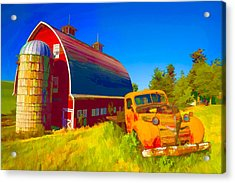Parked In Front  II Acrylic Print by Jon Glaser