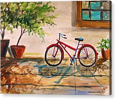 Parked In The Courtyard Acrylic Print
