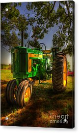 Parked John Deere Acrylic Print by Michael Eingle