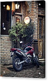 Acrylic Print featuring the photograph Parked Motorcycle by Kim Wilson