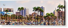Parking And Palms In Long Beach Acrylic Print