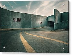 Parking Garage At The End Of The World Acrylic Print by Scott Norris