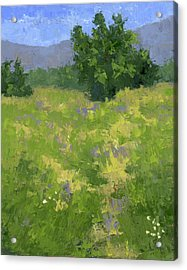 Parkway Spring Oil Acrylic Print