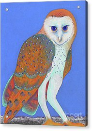 Parliament Of Owls Detail 1 Acrylic Print by Tracy L Teeter