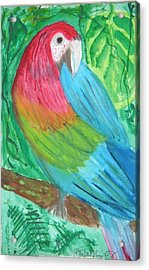 Acrylic Print featuring the painting Parrot At Sundy House by Donna Walsh