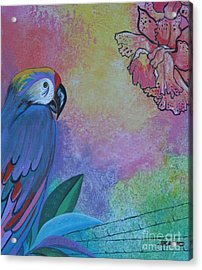 Parrot In Paradise Acrylic Print