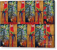 Parrots And Pineapples Acrylic Print by Eloise Schneider