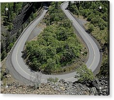 part of Rowena Loops on US Rt-30 in Oregon USA Acrylic Print