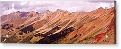 Acrylic Print featuring the photograph Part Of The San Juan Mountains Colorado by Roena King