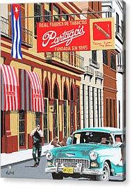 Partagas Cigar Factory Havana Cuba Acrylic Print by Miguel G