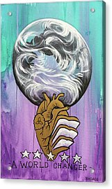 Acrylic Print featuring the painting Partakers Of His Heart by Nathan Rhoads
