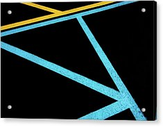 Acrylic Print featuring the photograph Partallels And Triangles In Traffic Lines Scene by Gary Slawsky