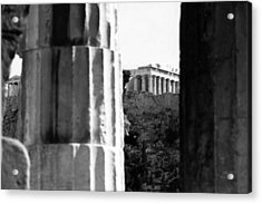 Parthenon From The Temple Of Hephaistos Athens Acrylic Print by Susan Chandler